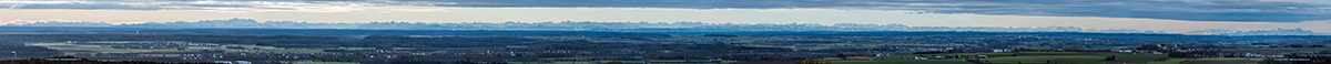 Alpenpanorama vom Hochsträss